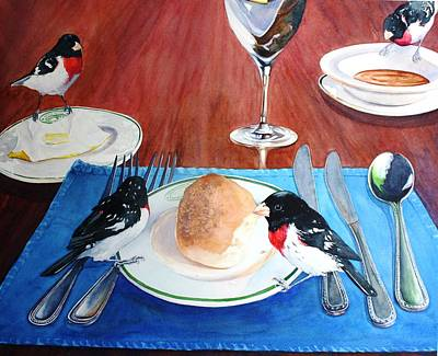 Painting - The Local Lunch Crowd by Brenda Beck Fisher