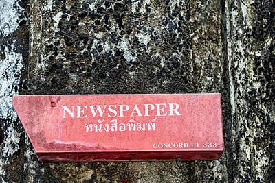 Mail Box Photograph - The Local Rag by Georgia Fowler