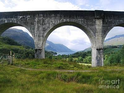 Loch Photograph - The Loch And The Viaduct by Denise Railey