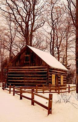 The Log Cabin At Old Mission Point Art Print
