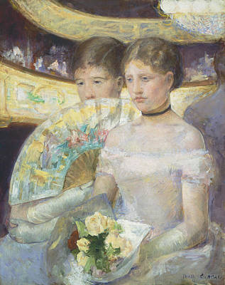 Choker Painting - The Loge by Mary Stevenson Cassatt