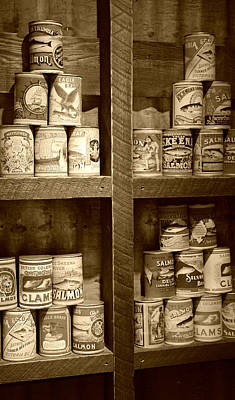 Photograph - The Logger's Pantry - Sepia by Marilyn Wilson