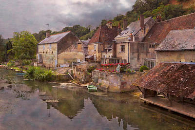 Red Roof Photograph - The Loir River by Debra and Dave Vanderlaan
