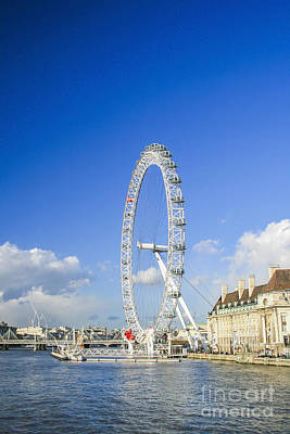 The London Eye Art Print by Patricia Hofmeester