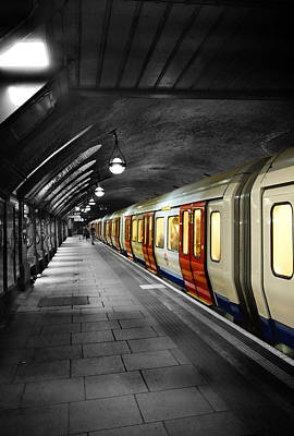 London Tube Photograph - The London Tube by Mark Rogan