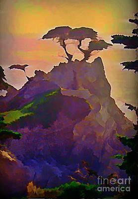 Malibu Painting - The Lone Cypress by John Malone