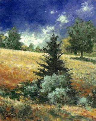 Mountain Scenery Wall Art - Painting - The Lone Fir by Jim Gola