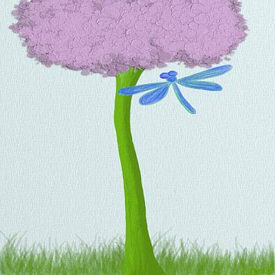 Painting - The Lone Hydrangea  by Michelle Brenmark
