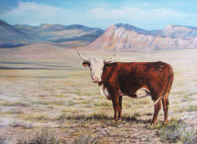 The Lone Range Art Print by Donna Tucker