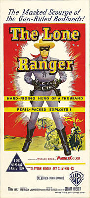1950s Movies Photograph - The Lone Ranger, Australian Poster Art by Everett