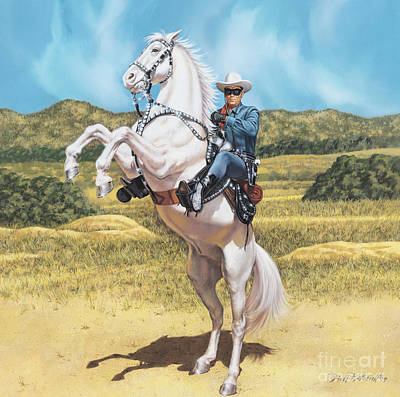 Painting - The Lone Ranger by Dick Bobnick