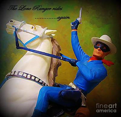 The Lone Ranger Rides Again Art Print by John Malone