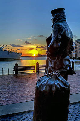 Photograph - The Lone Sailor At Nauticus by Jerry Gammon