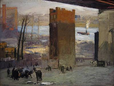 Winter Painting - The Lone Tenement by Celestial Images