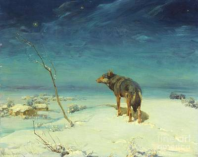 The Lone Wolf Art Print by Pg Reproductions