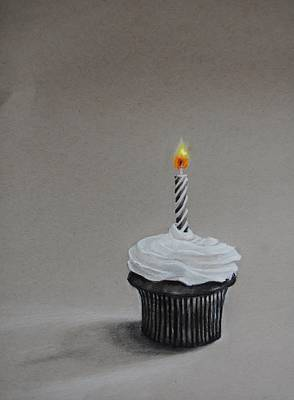 Birthday Cake Drawing - The Loneliest Birthday Ever by Jean Cormier