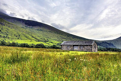 The Lonely Barn Art Print by Chris Whittle