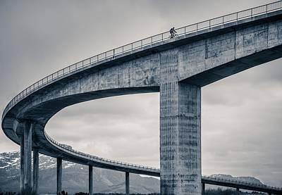 Caroline Wall Art - Photograph - The Lonely Biker by Mette Caroline Str?ksnes