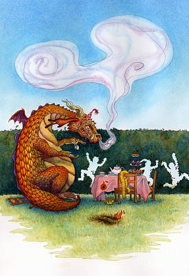 The Lonely Dragon Art Print by Isabella Kung