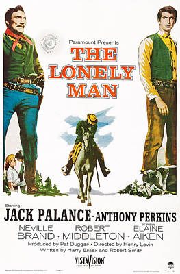 Jack Palance Photograph - The Lonely Man, Us Poster Art by Everett