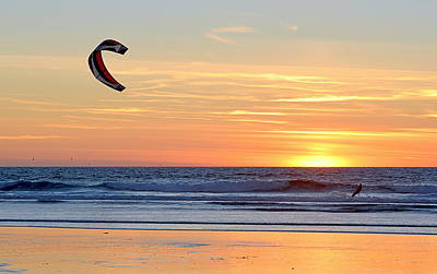 Photograph - The Lonely Surfer by AJ  Schibig