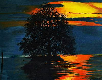 Painting - The Lonely Tree by Edward Pebworth
