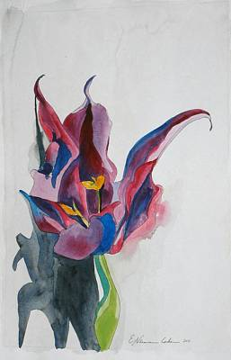 The Lonely Tulip Art Print by Esther Newman-Cohen