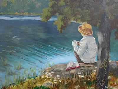 Painting - The Loner by Tony Caviston