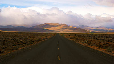 Photograph - The Long Desert Road by Daniel Woodrum