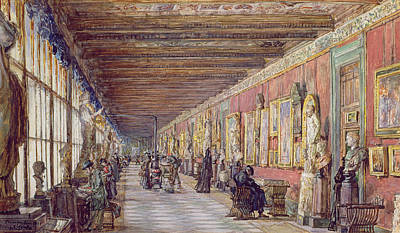 Florence Italy Painting - The Long Gallery, The Uffizi by English School