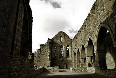 Photograph - The Long Hall At Jerpoint Abbey by Nadalyn Larsen