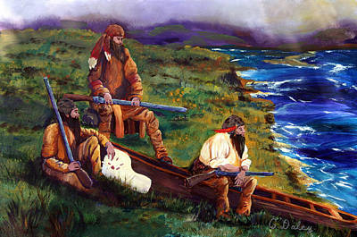 Painting - The Long Hunters by Gail Daley