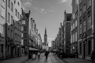 The Long Lane In Gdansk Bw Art Print by Adam Budziarek