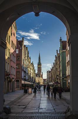 The Long Lane In Gdansk Seen From The Golden Gate Art Print by Adam Budziarek
