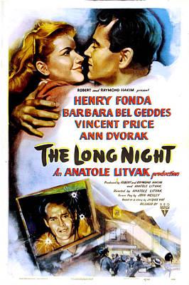 The Long Night, Us Poster, Barbara Bel Art Print