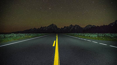 Teton Wall Art - Photograph - The Long Road by Kristopher Schoenleber