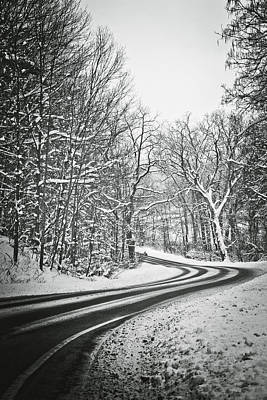 Landscape Photograph - The Long Road Of Winter by Sara Frank