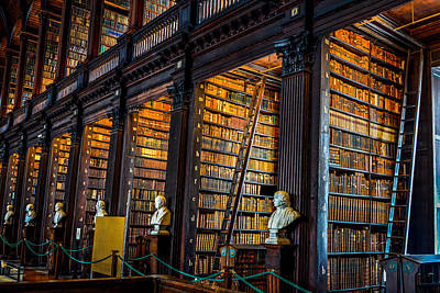 Photograph - The Long Room In Trinity College Library by Marilyn Burton
