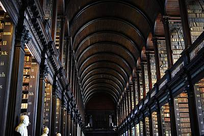 Photograph - The Long Room Trinity College Old Library by Nadalyn Larsen