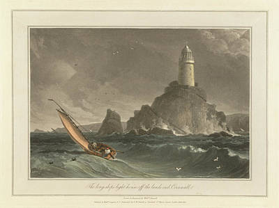 The Long-ships Lighthouse Art Print by British Library