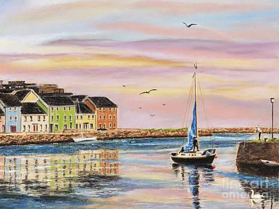 Painting - The Long Walk- Evening Sky by Vanda Luddy