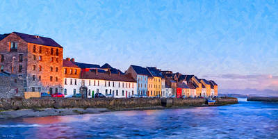 Art Print featuring the photograph The Long Walk In Galway Ireland by Mark E Tisdale