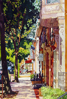Filtered Painting - The Long Walk To Market by Mick Williams