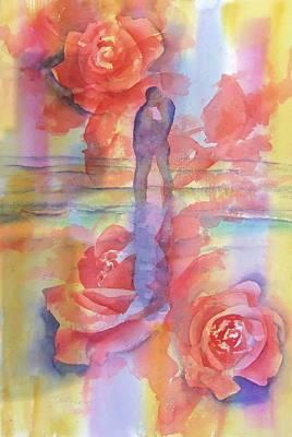 Watercolor Painting - Eternal Love by Debbie Lewis