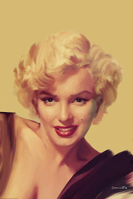 Monroe Painting - The Look In Gold by Chris Consani
