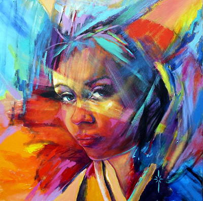 Painting - The Look by Jodie Marie Anne Richardson Traugott          aka jm-ART