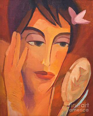 Painting - The Look by Lutz Baar