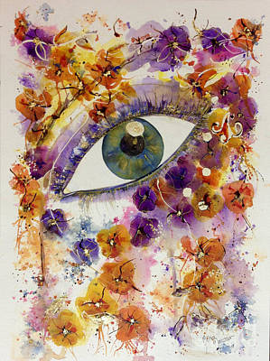 Painting - The Look by Mona Mansour Jandali