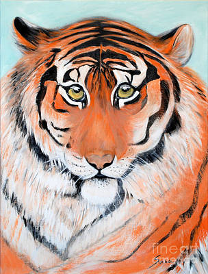 Painting - The Look Of Power. Portrait Of Tiger by Oksana Semenchenko