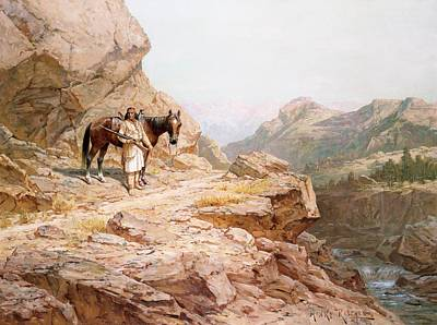 Bridle Painting - The Look Out by Henry Raschen